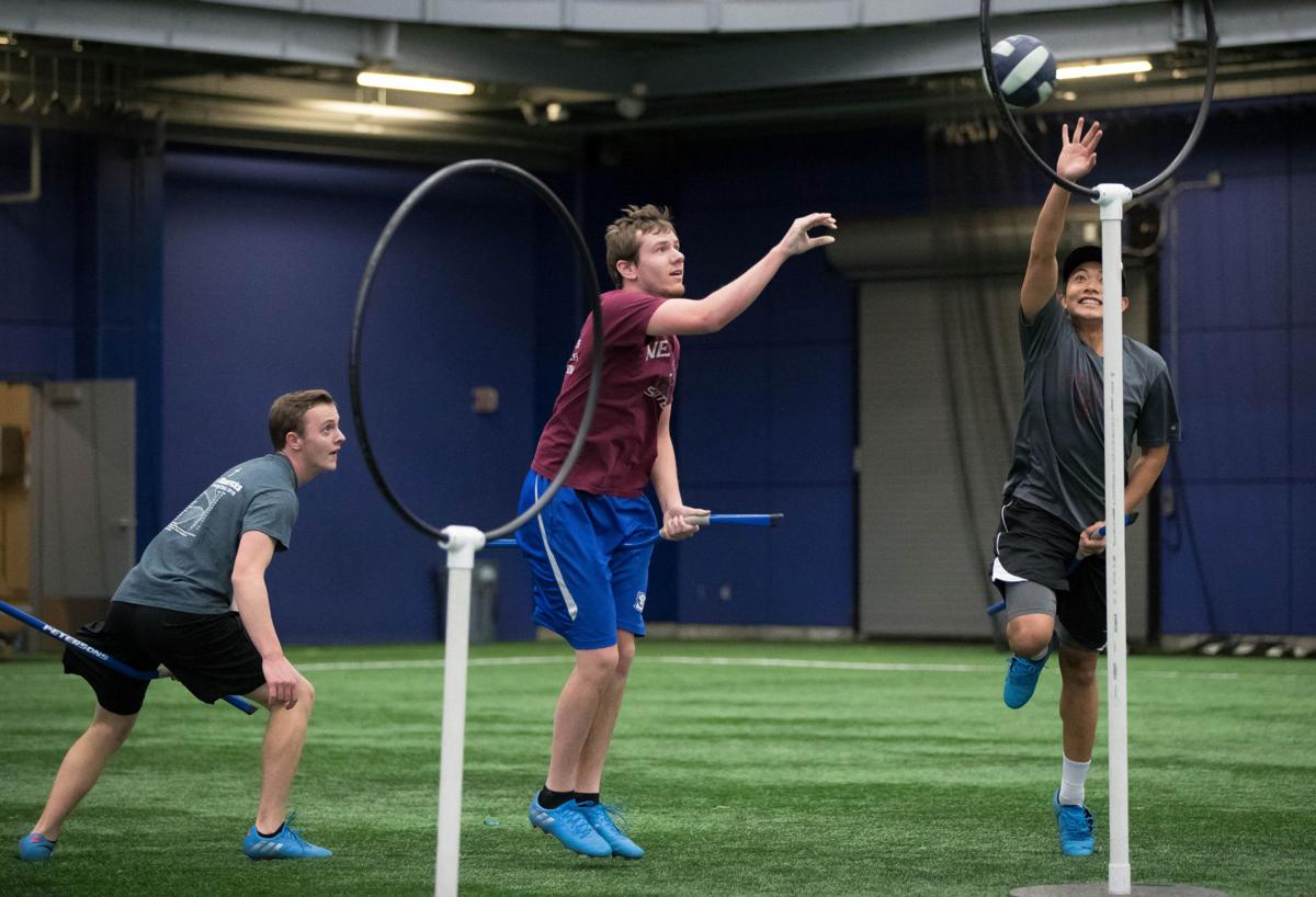 From Hogwarts to Creighton This is muggles quidditch, a real sport combining elements of rugby, dodgeball and tag