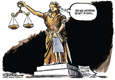 Jeff Koterba's latest cartoon: Hoping for justice