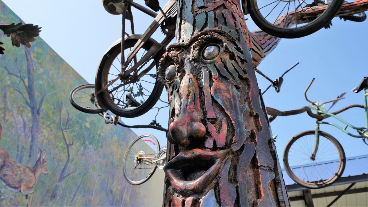 Bike tree detail