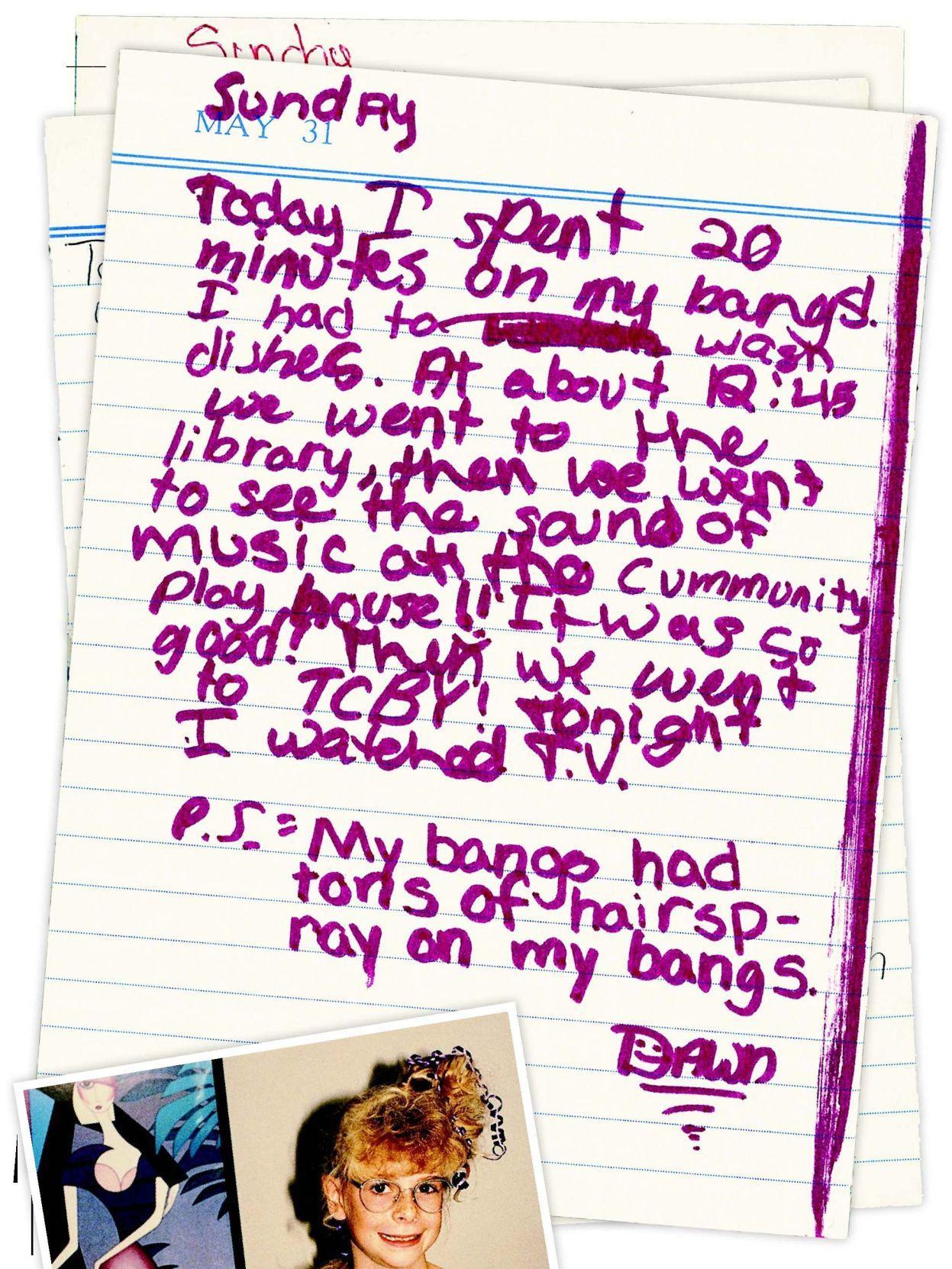 Not-so-secret diary of a '90s tween girl