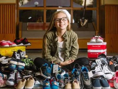 Lilly Maddox is collecting shoes for kids in need