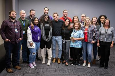 Schulman with PayPal employees