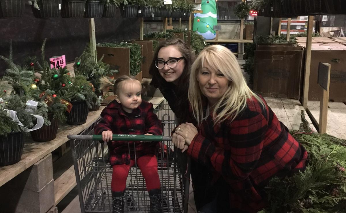 Lynn Kirkle and daughters - Christmas