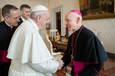 Grace: Omaha Archbishop George Lucas meets with Pope Francis in Rome