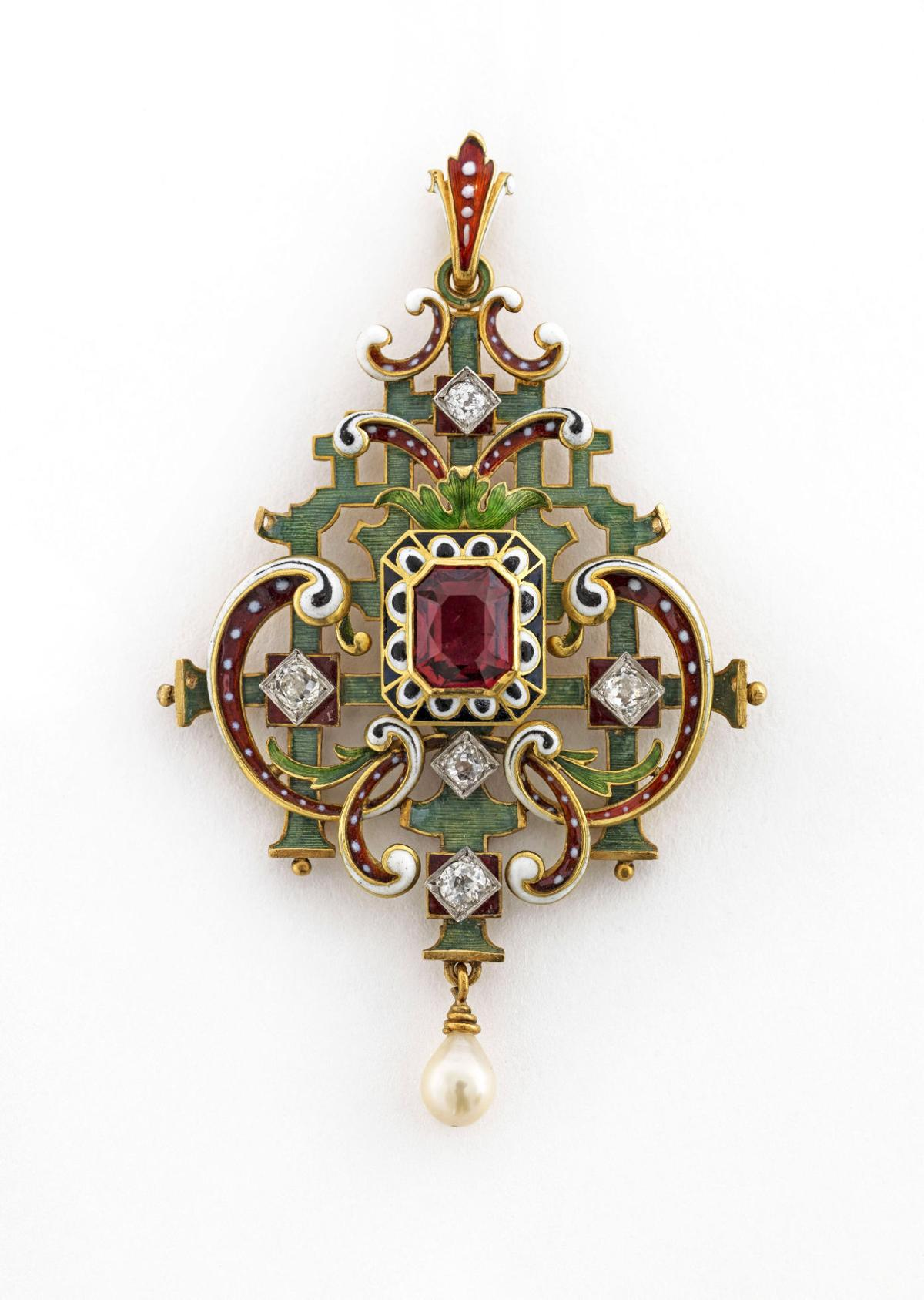 a history of dazzling designs [JUMP]Joslyn exhibit details evolving trends in French jewelry over four centuries