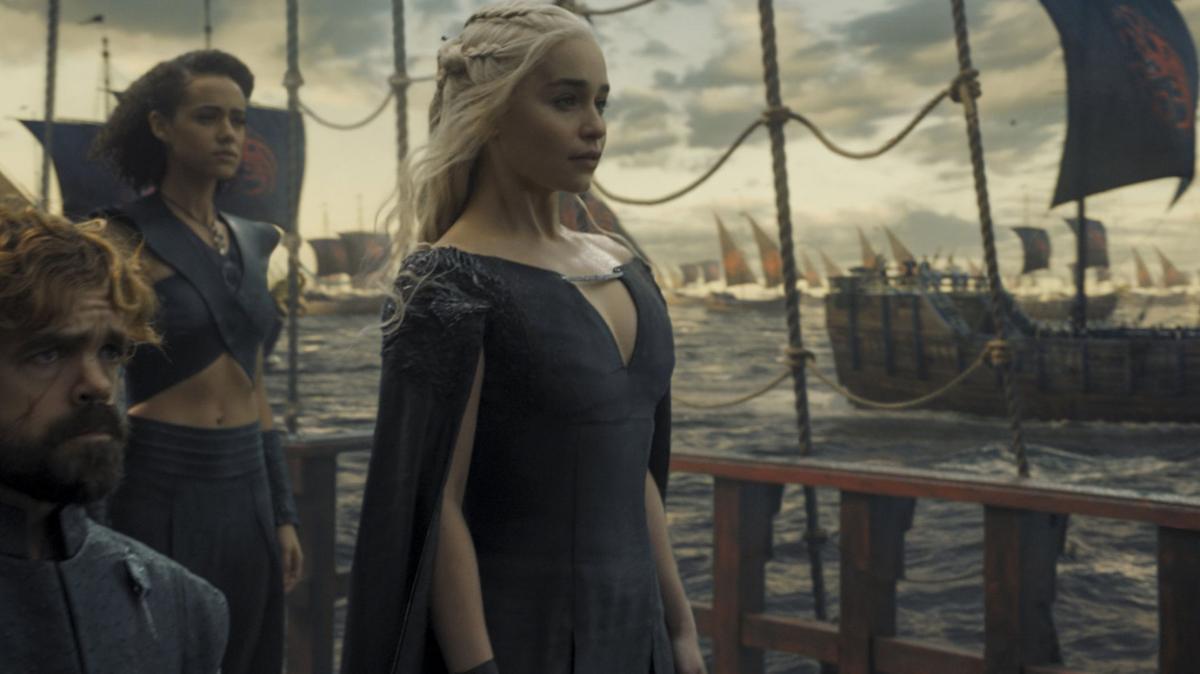 Peter Dinklage As Tyrion Dinklage, Nathalie Emmanuel As Missandei, Emilia  Clarke As Daenerys Targaryen