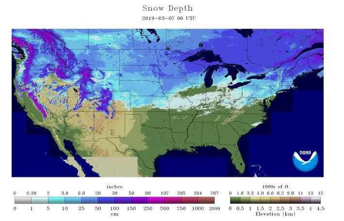 Thick blanket of snow covers northern U.S.