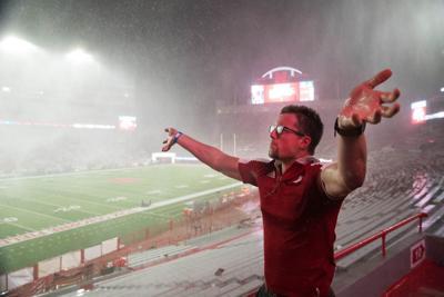 Nebraska football rain