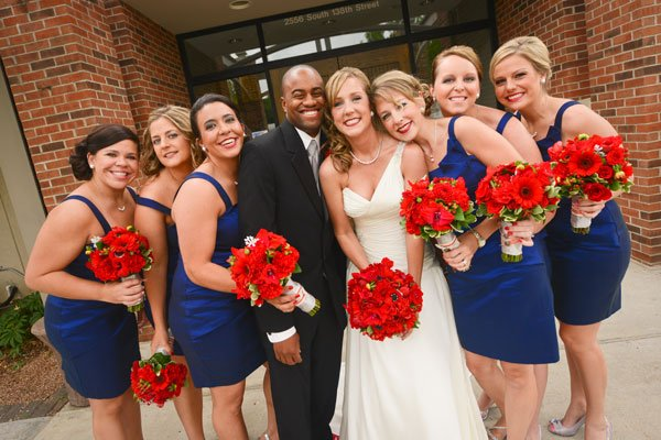 Real Wedding Red White And Blue Theme Wedding Essentials Blog