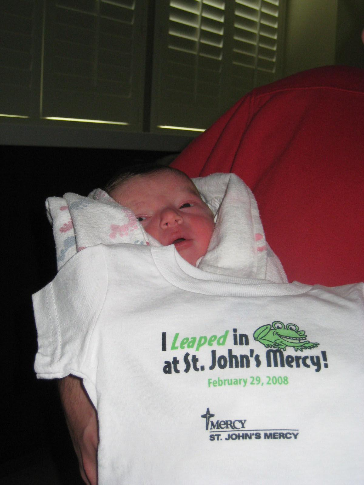 When Alex Pekny Was Born On Leap Day 2008 Staff At St Johns Mercy In Louis Gave Him A T Shirt To Commemorate The Event
