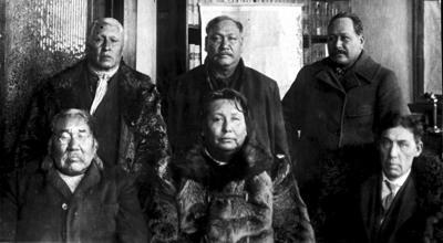 Photo of Omaha tribal leaders circa 1910
