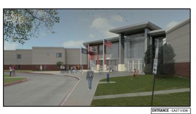 rendering of new Millard North entrance