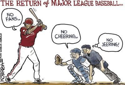 Jeff Koterba's latest cartoon: Play ball!