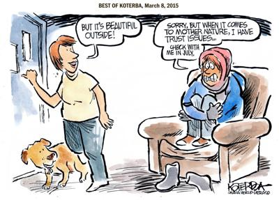 The Best of Jeff Koterba's cartoons: Don't chance it yet