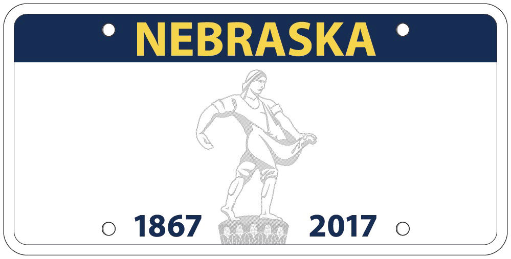 New design for license plate features same idea but a truer ...