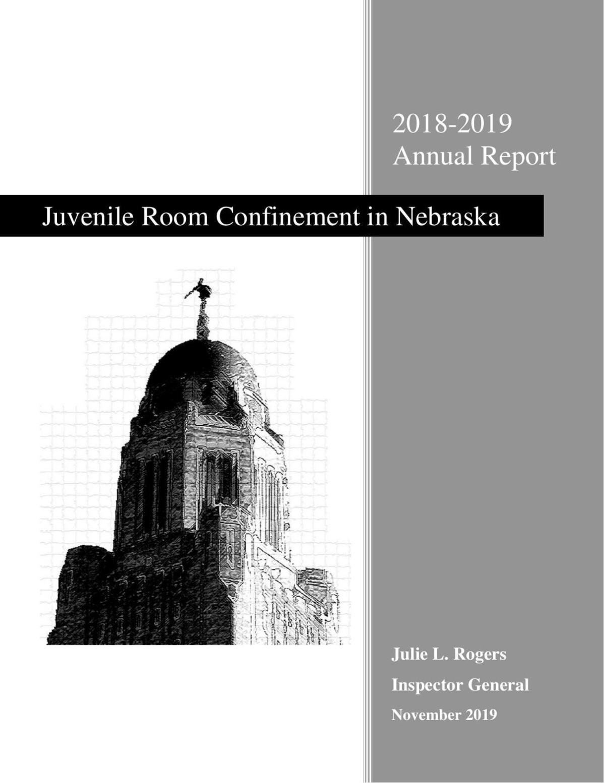 Juvenile Room Confinement in Nebraska - 2018-19