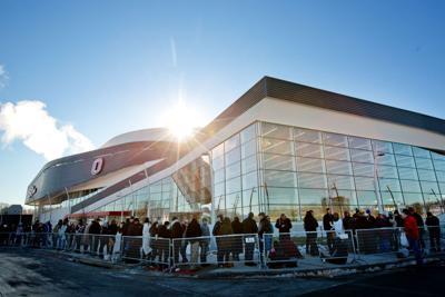 Baxter Arena - Line for Obama - Infographic