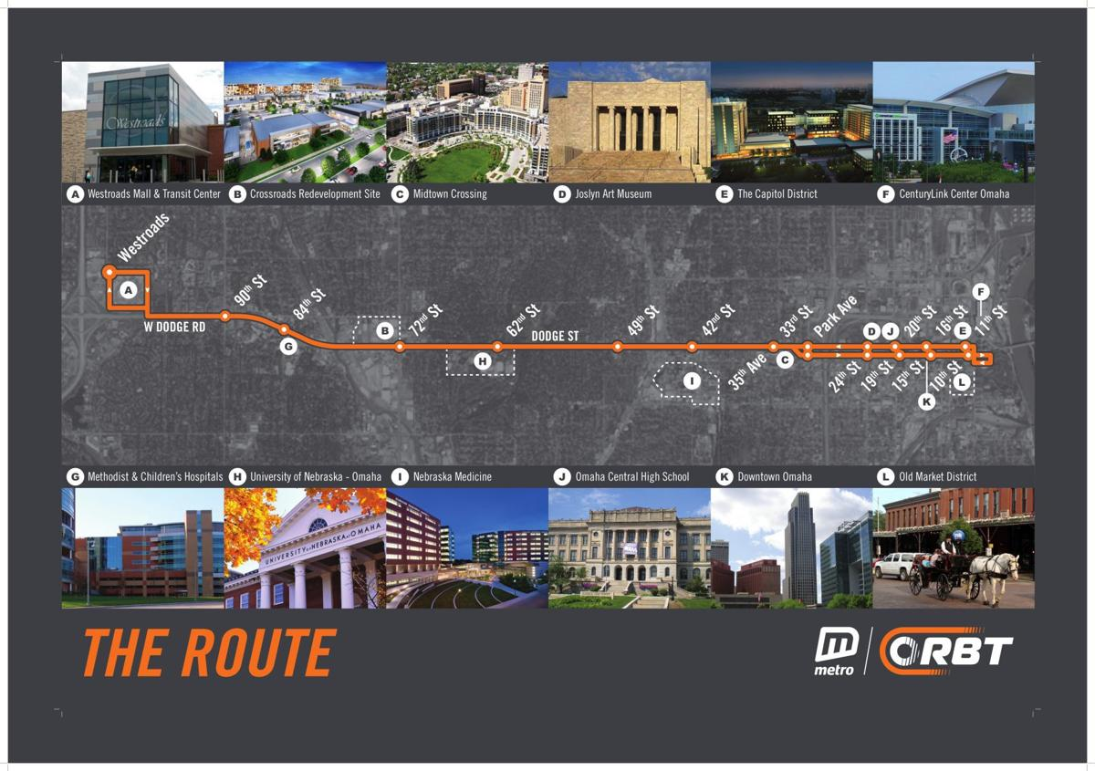 Download Pdf The Proposed Route Of The Omaha Rapid Bus Transit Line