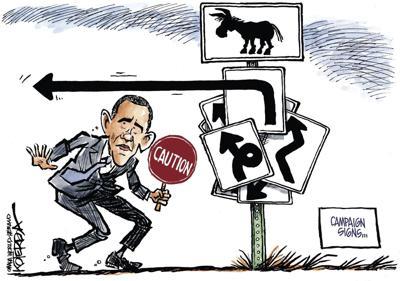 Jeff Koterba's latest cartoon: Campaign signs