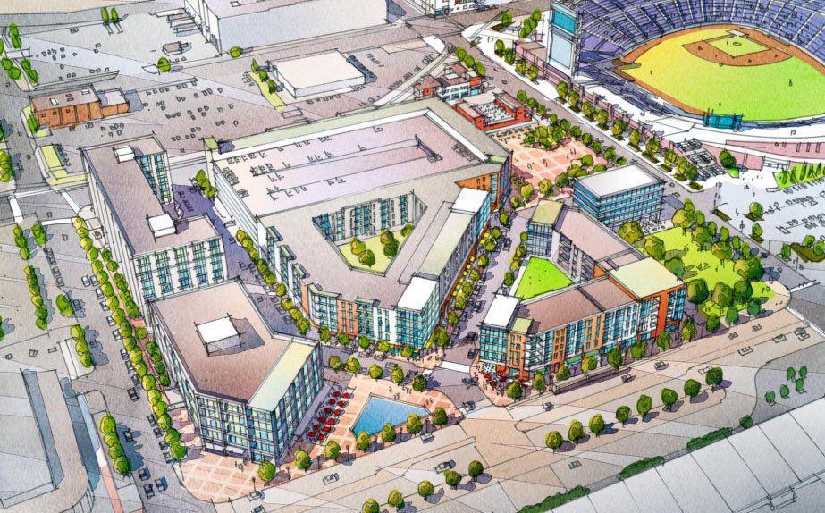 Rendering of a possible development near TD Ameritrade Park