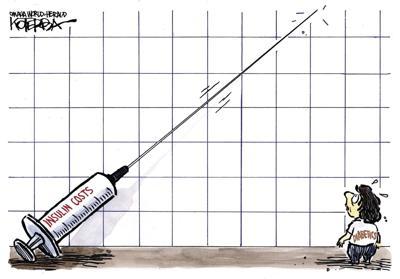 Jeff Koterba's latest cartoon: Sticking point for diabetics