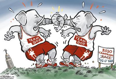Jeff Koterba's latest cartoon: Elephant squabbles