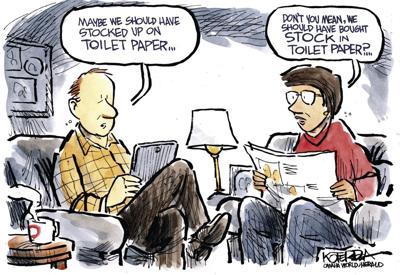 Jeff Koterba's latest cartoon: Stocking up