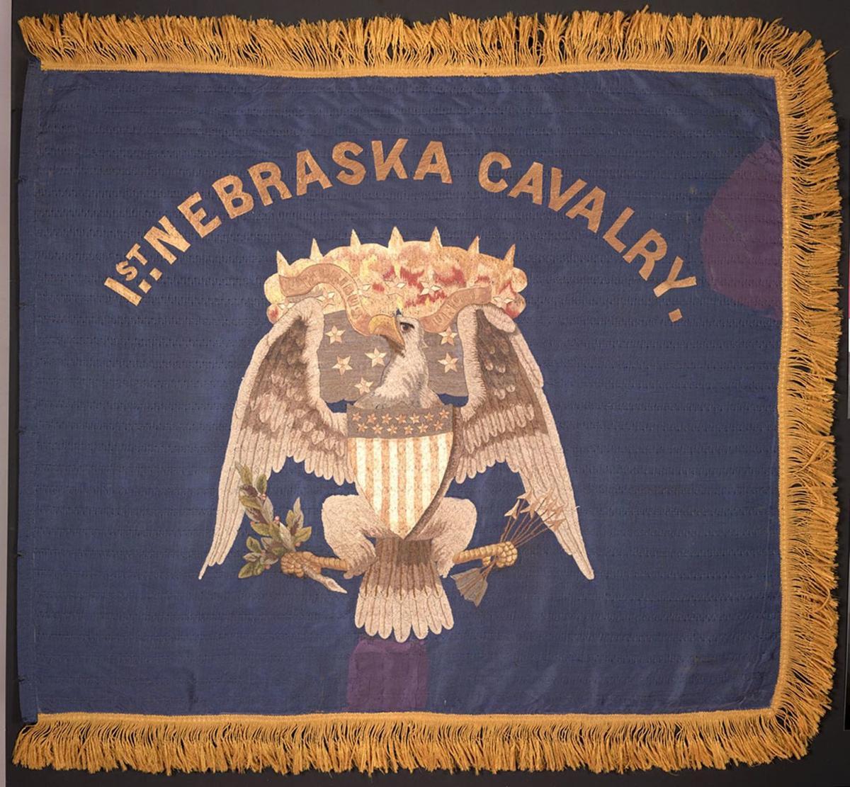 The regimental colors of the First Nebraska flag