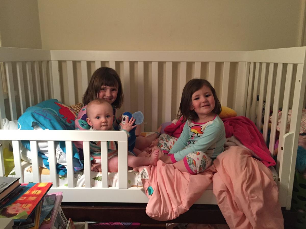 Kraemer girls at bedtime