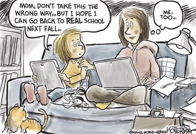 Jeff Koterba's latest cartoon: Breaking it to Mom