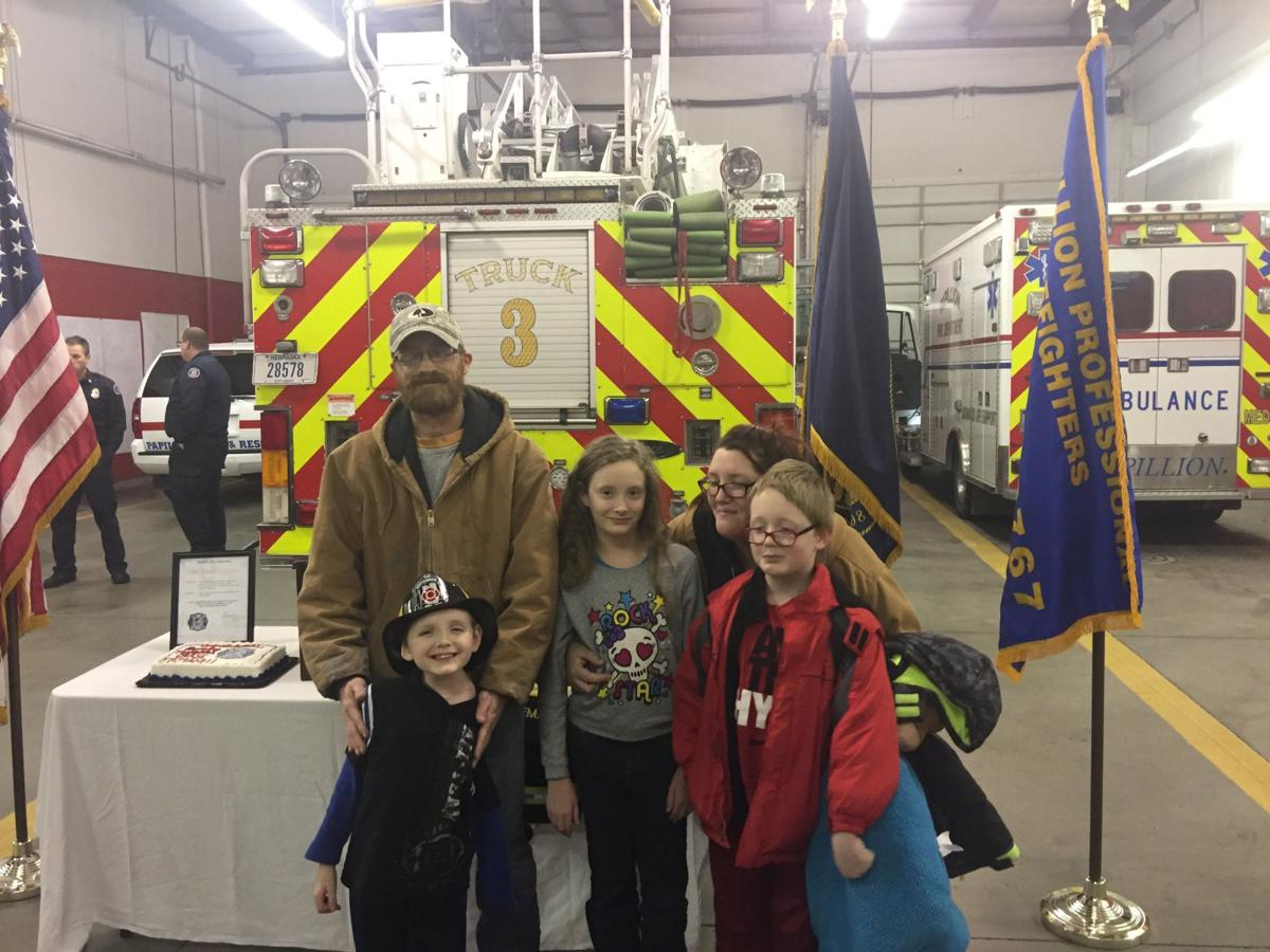 At age 6, new firefighter is familiar with challenges