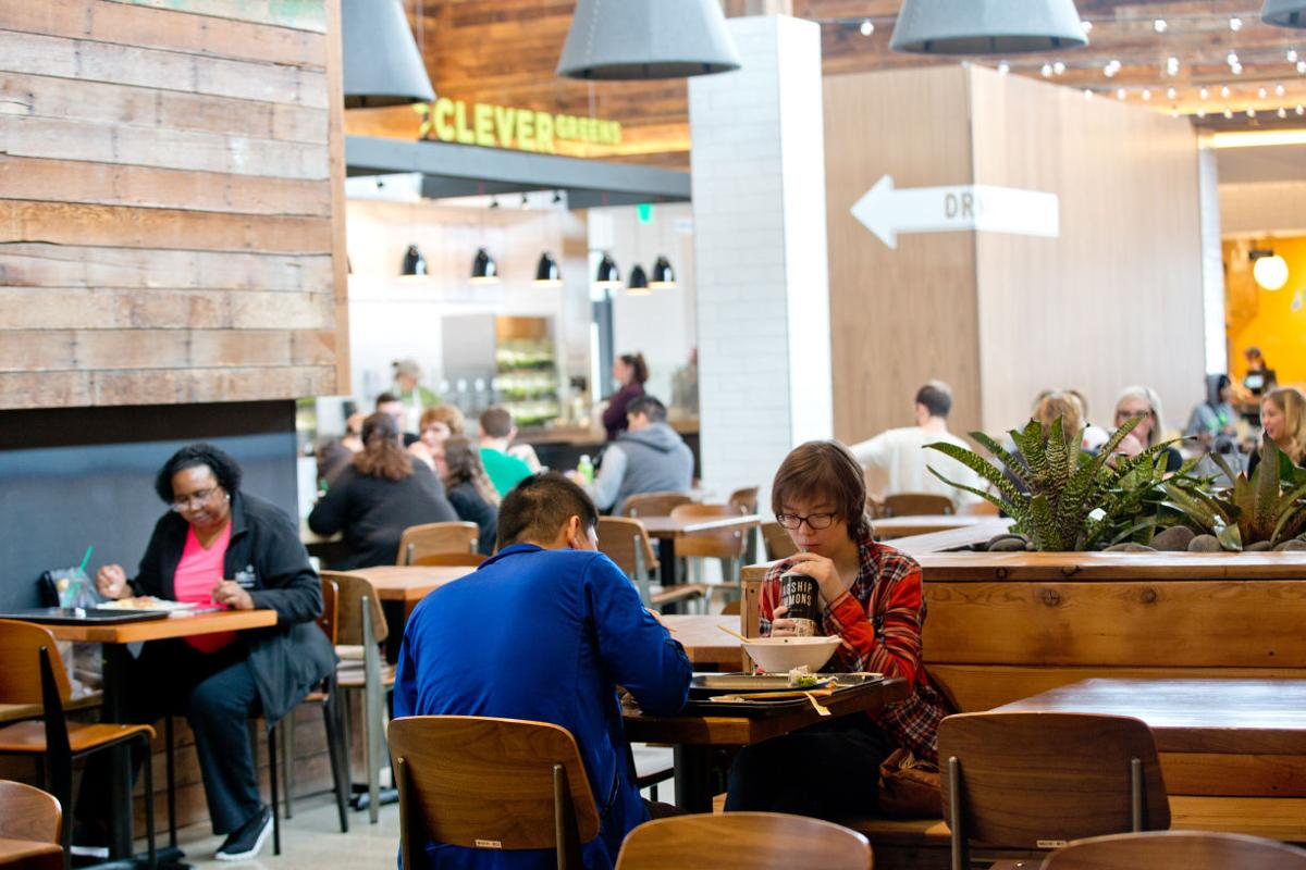 Diners at flagship commons