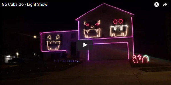 watch omaha couple uses halloween light show timed to go cubs go to cheer for chicago good news omahacom