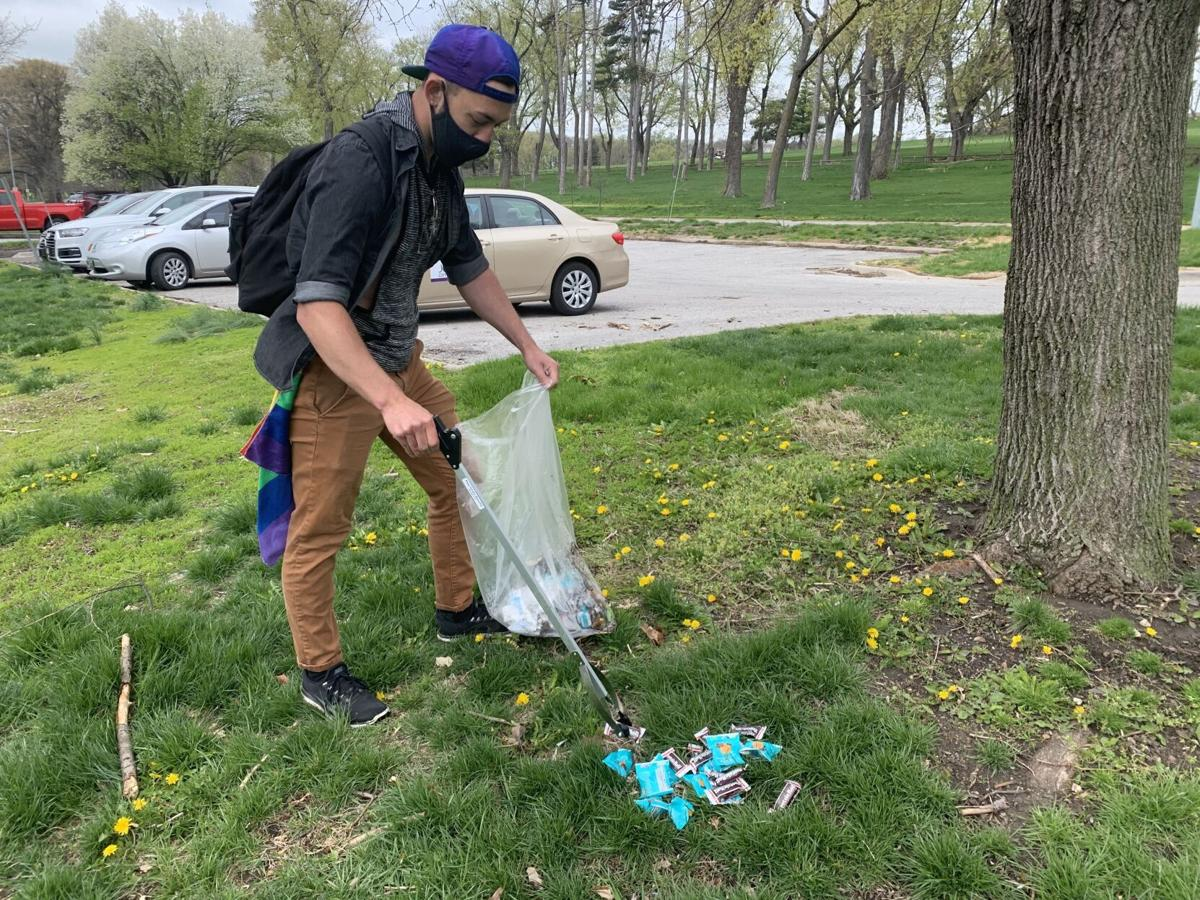 Earth Day park cleanup
