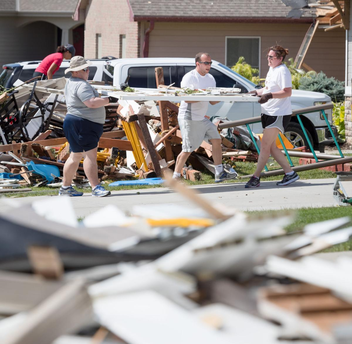 Storm cleanup Sunday