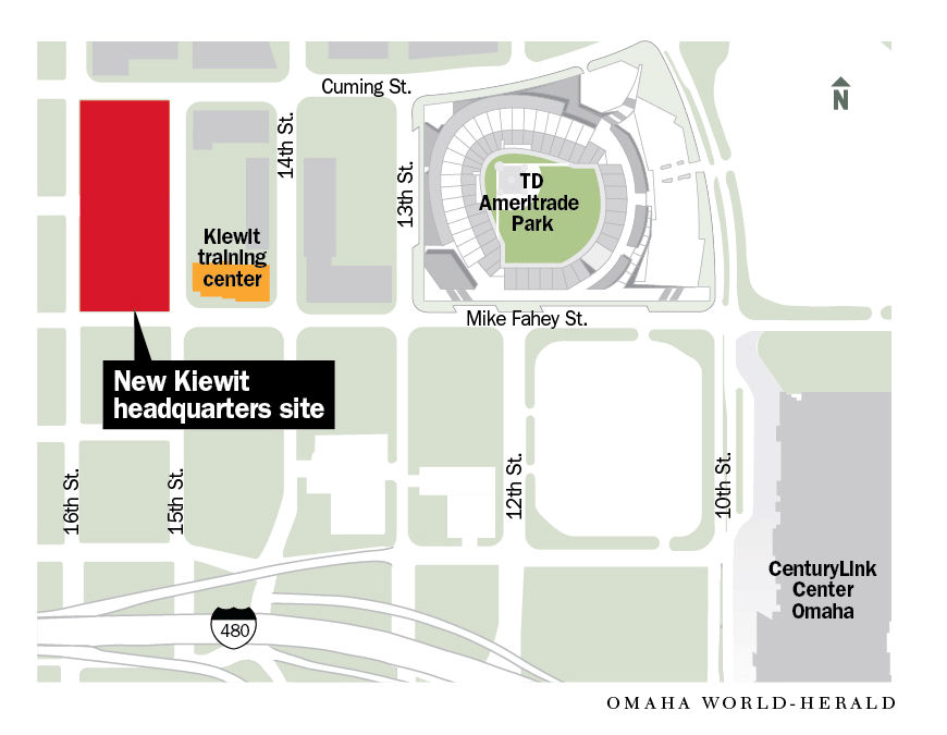 Kiewit Corp  is moving its headquarters to north downtown