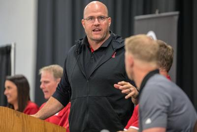 Brenden Stai says Nebraska's offensive line has had 'great push,' but needs more reps
