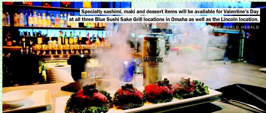 Share some sushi with your sweetie at Blue