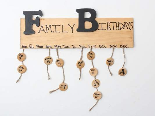 Hanging is easy reminder for birthdays