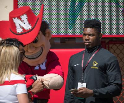 NU linebacker signee Willie Hampton has little to say, but a lot to do