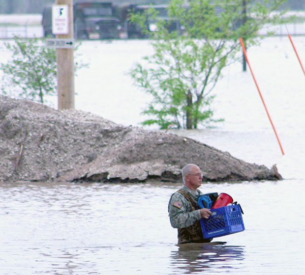 7 months later, National Guard Training Center is being fortified for future [JUMP]camp ashland Starting fresh after flood