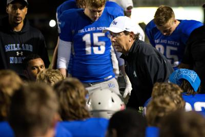 Shatel: Millard North football coach Fred Petito is still happy to roll up his sleeves