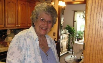 Fran Held in her kitchen