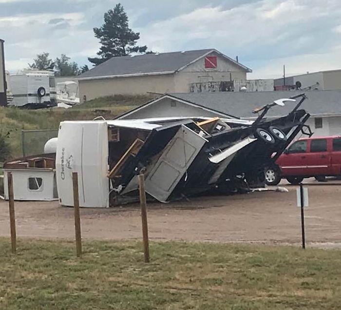Stormy Weather Causes Problems Across Nebraska, Tosses RVs