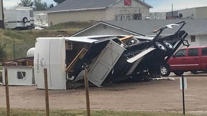 Stormy weather causes problems across Nebraska, tosses RVs