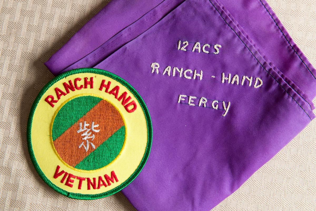 healthy vietnam veteran who regularly handled agent orange says gary ferguson scarf and patch
