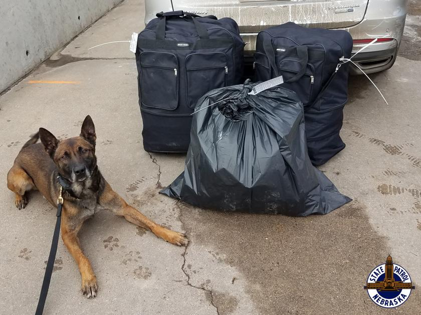 More than 240 pounds of pot seized after two traffic stops on I-80