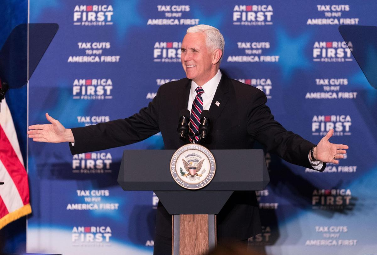 pence speaks in bluffs
