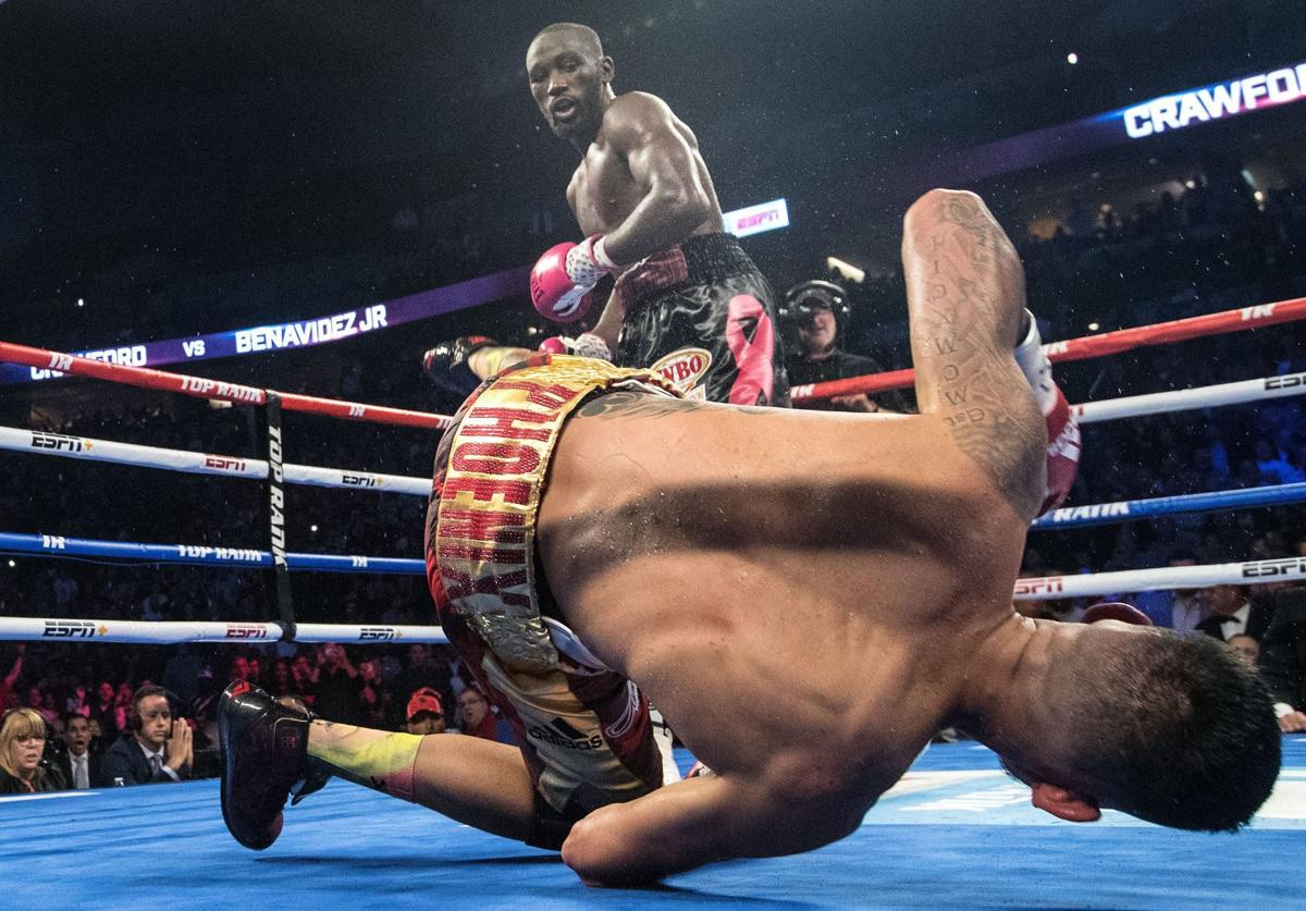 Omaha native Terence 'Bud' Crawford defends welterweight title with win over Jose Benavidez Jr.