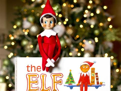 elf on the shelf the first christmas tradition on deck at our house - Elf On The Shelf Christmas Tradition